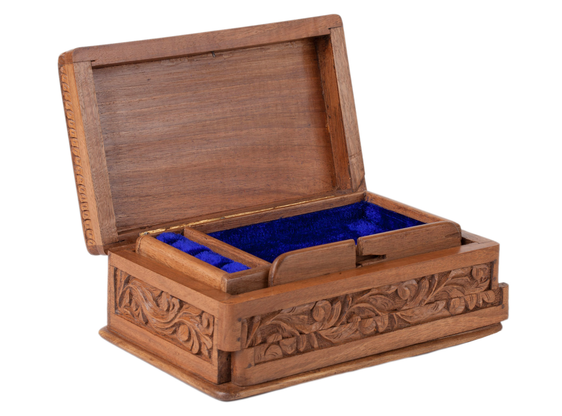 Walnut wood jewelry box asran decor for Jewelry box made of wood